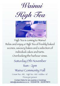 Wainui High Tea @ Wainui Community Hall